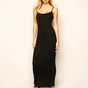 Joseph ribkoff s16 solid black maxi dress s16